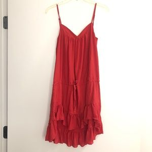 NSF Red Ruffle Mini Dress